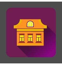 Three windows house icon flat style vector image