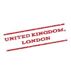 United Kingdom London Watermark Stamp vector image