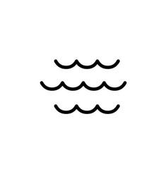 wave icon thin line black vector image vector image