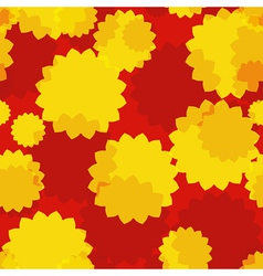 Yellow Flowers Seamless vector image vector image