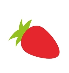 Whole strawberry icon vector