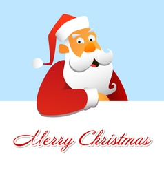 Santa claus above a white background vector