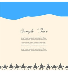 Background with silhouettes of camels vector
