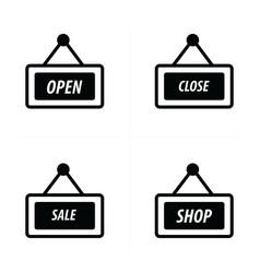 price tag icon shop set vector image