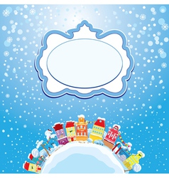Christmas and new year holidays card vector