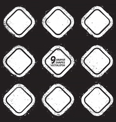 Grunge abstract textured badges vector