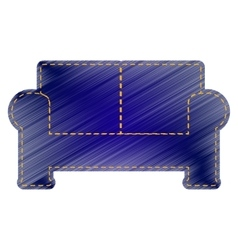 Sofa sign vector