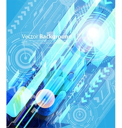 Blue Techno Background vector image vector image