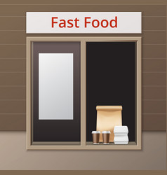 Cafe take away window vector