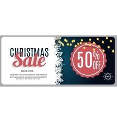 Christmas Sale Discount Voucher Banner Background vector image vector image