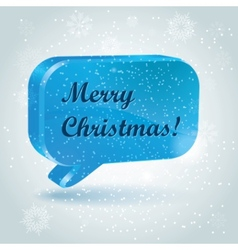 christmas speech bubbles vector image