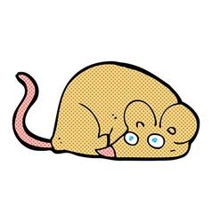 comic cartoon mouse vector image