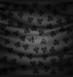 Dark clubs pattern background printed on cloth vector