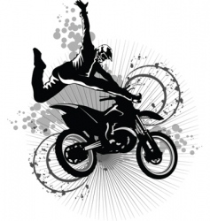 dirt bike vector image