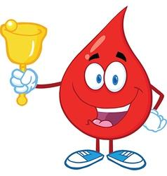 Drop of blood cartoon character vector image vector image