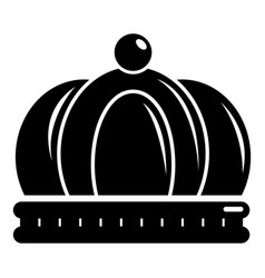 empire crown icon simple black style vector image