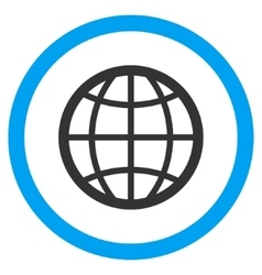 Globe Flat Rounded Icon vector image vector image