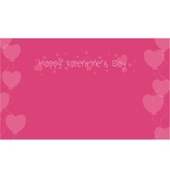 Happy Valentine on pink backgrounds vector image