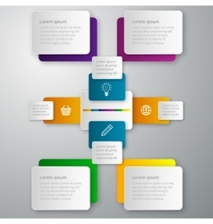Infographics paper rectangles vector