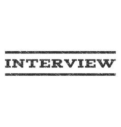 Interview watermark stamp vector