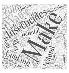 Making your own natural insecticides word cloud vector