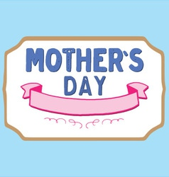 Mothers Day Badge vector image