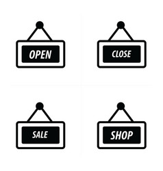 price tag icon shop set vector image vector image