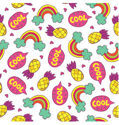 Seamless hand drawn summer pattern vector