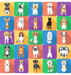 Seamless pattern with dogs flat design vector
