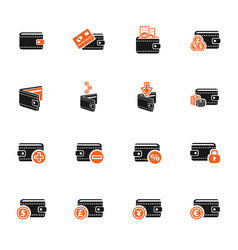 set of money icons vector image vector image