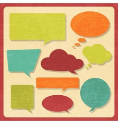 Set of speech bubbles in vintage style vector