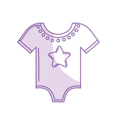 Silhouette baby clothes that used to sleep vector