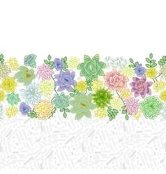 Succulent garden border card design vector image