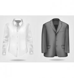 suit and shirt vector image vector image