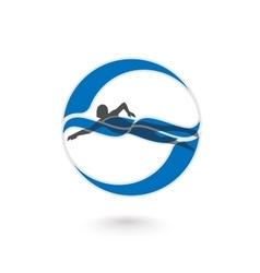 Swimmer Logo Design Element vector image vector image
