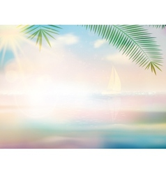 Untouched tropical beach design template vector