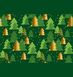 xmas tree seamless pattern vector image vector image