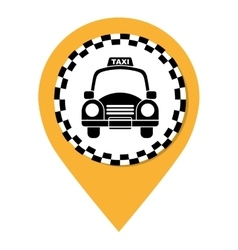 Taxi car service public icon vector