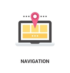 navigation icon concept vector image