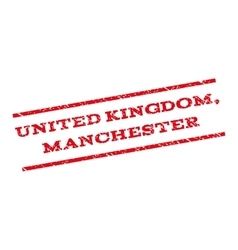 United Kingdom Manchester Watermark Stamp vector image