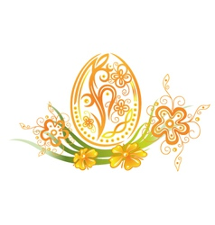 Easter egg flower vector