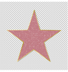 fame star on transparent background vector image