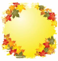 autumn leaf boarder vector image