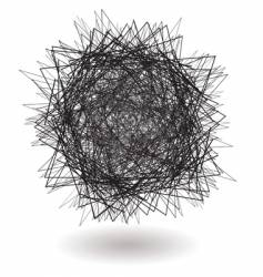 Square scribble vector