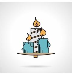 Candles flat color icon vector