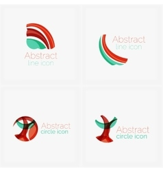 Abstract symmetric geometric shapes business icon vector