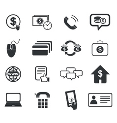 Finance icon set 5 simple vector