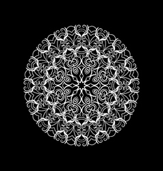 round lace ornament vector image