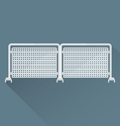 Flat metal event fence icon vector
