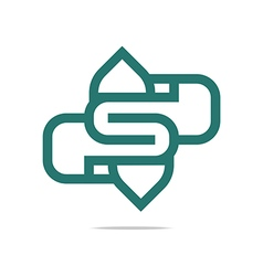Logo letter s perfect performance vector